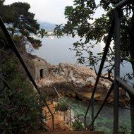 Wanderweg von Villefranche nach Nizza (Blick zurück nach Villefranche)